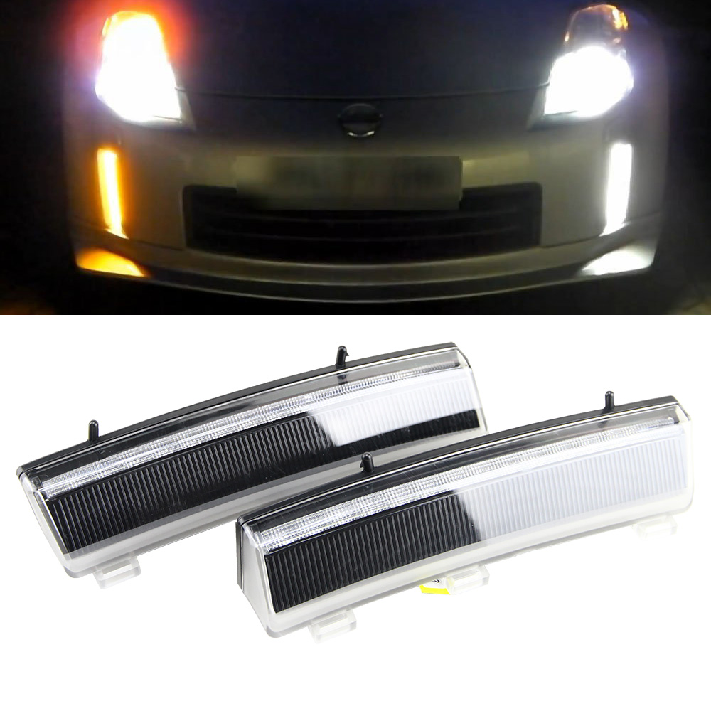 2pcs/lot LED Car Drl Light For Nissan 350Z/Z33 2006-2009 Car-styling LED DRL Daytime Running Light Waterproof Wire Of Harness 2pcs 19cm ice bule and yellow color waterproof nonfog led drl daytime running light with brake no need modify for all car