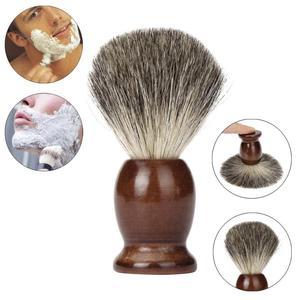 1PCS ZY 100% Pure Badger Hair Wet Shaving Brush Tool Shave Men Salon Barber Tool Brown New Free Shipping wholesale Dec 29