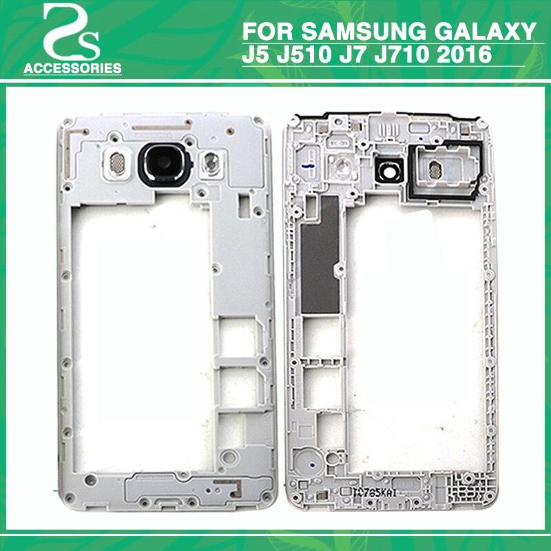 10pcs Middle Frame For Samsung Galaxy J5 J510 J7 J710 2016 Mid Plate Bezel Housing Cover