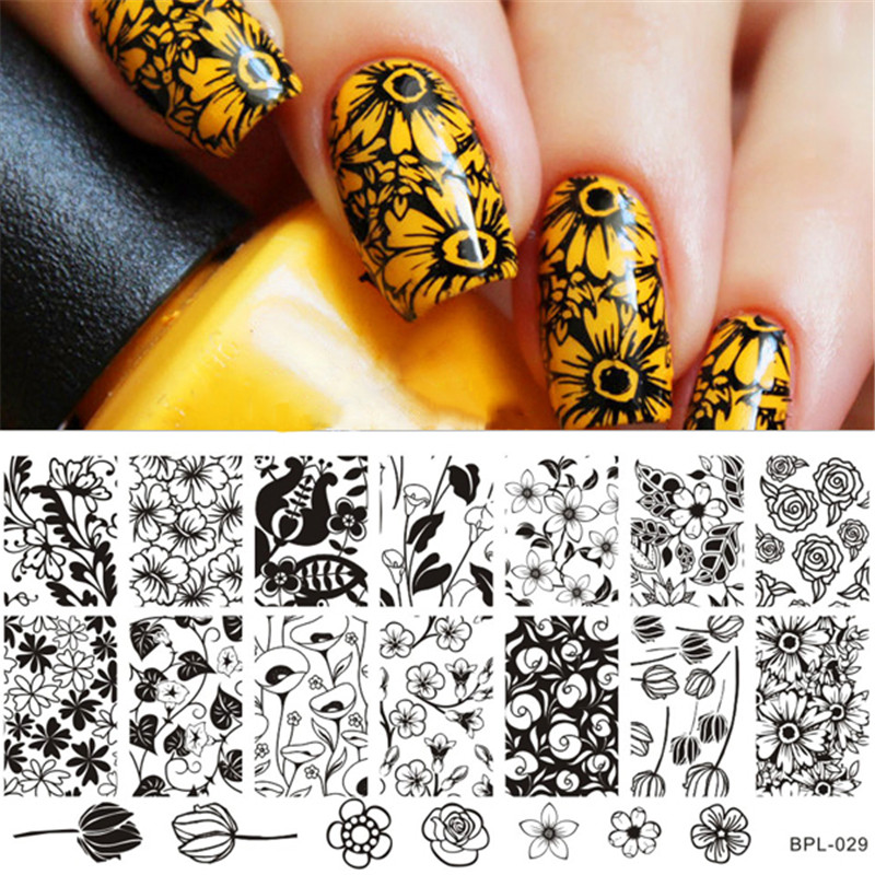 Nail Cake Born Pretty Store Review: BORN PRETTY Flower Theme Nail Art Stamp Template Image