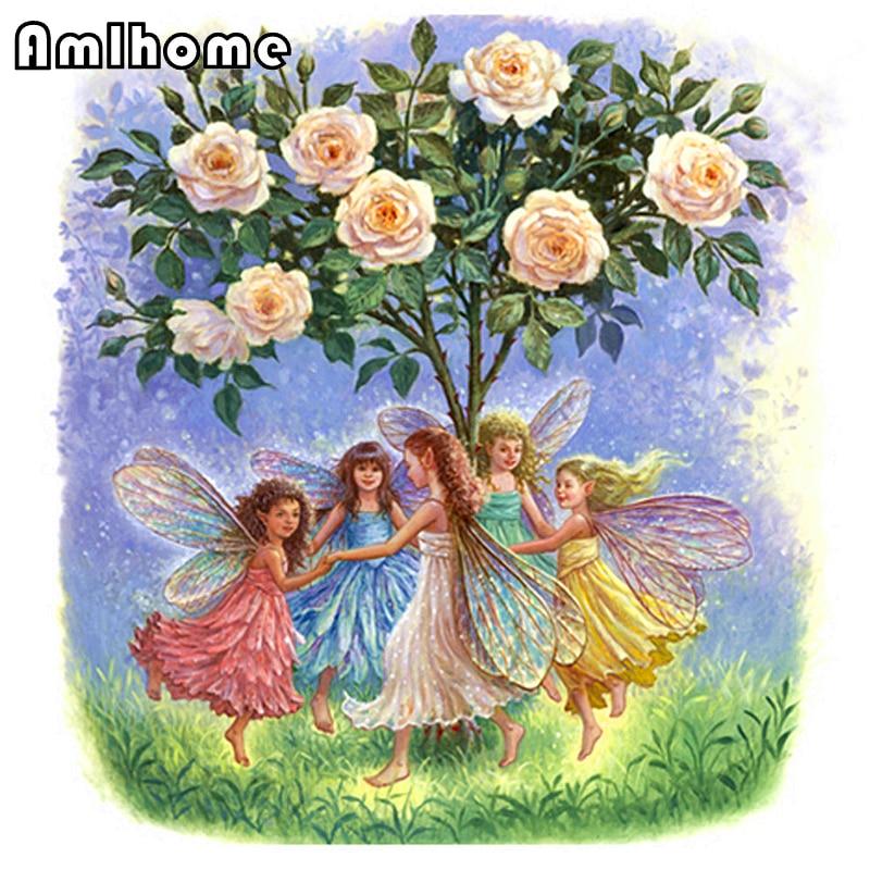 Цветочная фея вышивка