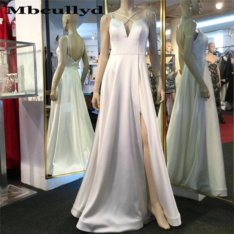 Exquisite Cross Neck   Prom     Dresses   For Women 2019 Top Sexy Side Split Long Formal Evening   Dress   Gown vestidos de fiesta de noche