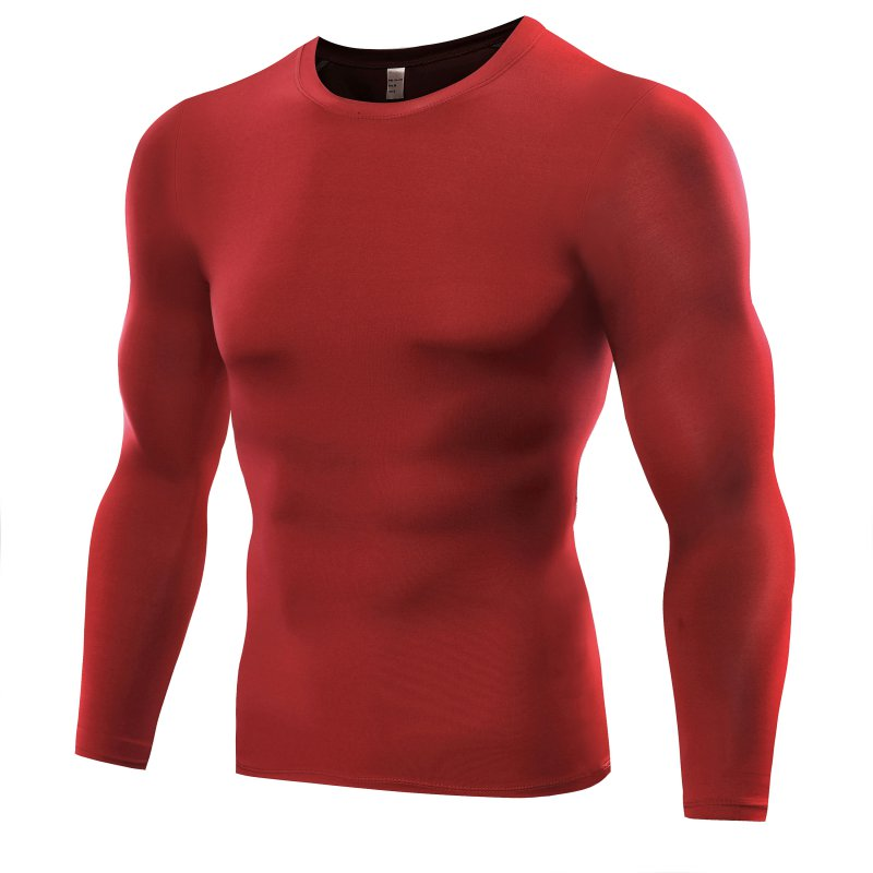 Men Compression Base T Shirt Layer Tight Top  Under Skin Long Sleeve T-shirt Tops Tees 6 Colors
