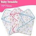 Soft Cozy Bebé 70*70 Envolvente Para El Bebé Recién Nacido Swaddle Wrap Manta Swaddle Carters Algodón de Gasa Saco de dormir Infantil ropa de cama
