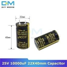 Алюминиевая крышка, 25В 10000 мкФ 22X40 мм Алюминий электролитический конденсатор с алюминиевой крышкой, высокая частота низкое сопротивление со сквозным отверстием конденсатор с алюминиевой крышкой 22*40 мм diymore