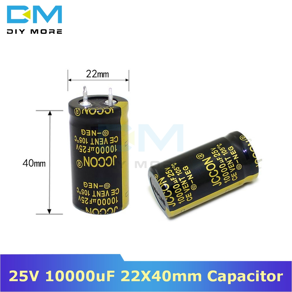 25V 10000uF 22X40mm Aluminum Electrolytic Capacitor High Frequency Low Impedance Through Hole Capacitor 22*40mm Diymore