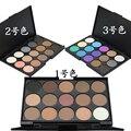 15 Cores Marca de Maquiagem Olhos Glitter Matte Pigment Eyeshadow Palette Maquiagem Sombra de Olho Nu À Prova D' Água Cosméticos