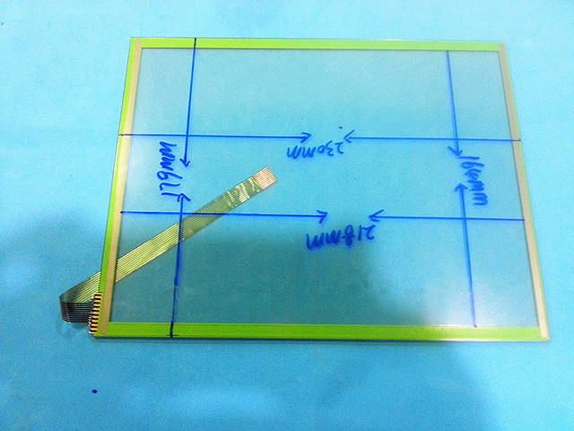 Original 10.4 inch touch screen digitizer 230mm*179mm 10 wire ...