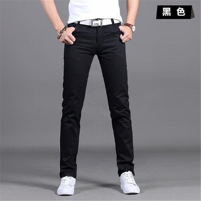 Nuevo Diseno Pantalones Informales Para Hombre Pantalones Ajustados De Algodon Pantalones Rectos Moda De Negocios De Calidad Pantalones Caqui Negros Para Hombre 28 38 Pantalones Informales Aliexpress