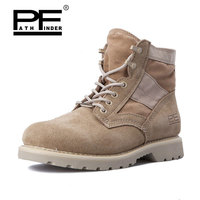Pathfinder New America Army Men's Boots Desert Outdoor Hiking leather Botas Military Enthusiasts Marine Male Combat Shoes