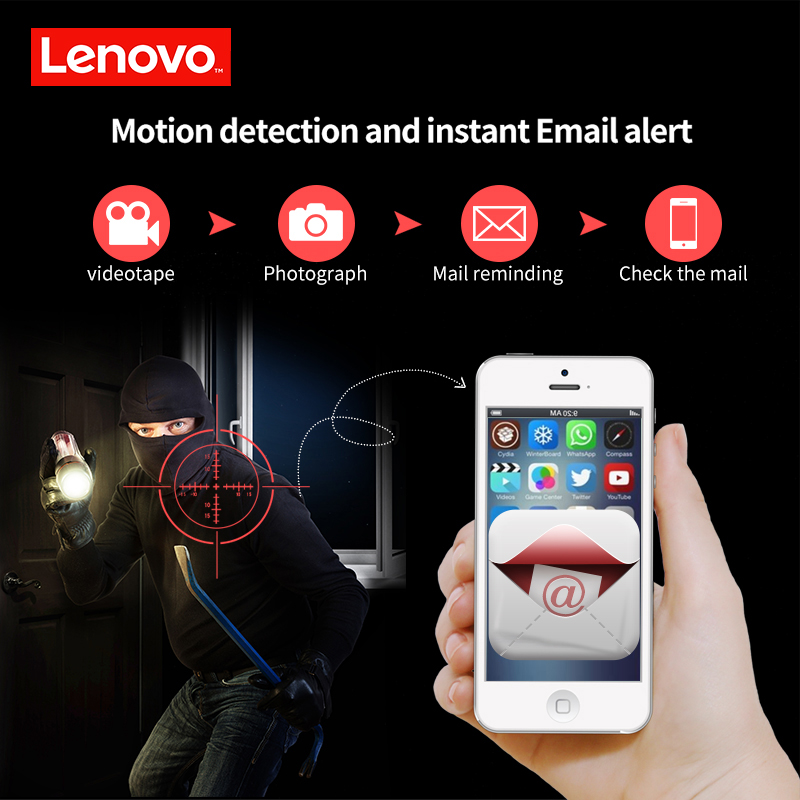 Image 2 - LENOVO 2CH Array HD Home WiFi Wireless Security Camera System DVR Kit 1080P CCTV WIFI Outdoor Full HD NVR Surveillance Kit Rated-in Surveillance System from Security & Protection