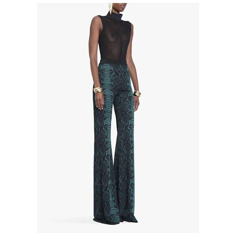 Patchwork Vendaje Azul Moda Tejido Mujer Por Elegante Larga Jacquard Mayor Sexy Pantalones Al Causal Celebridad 2019 Venta x07qw1YY