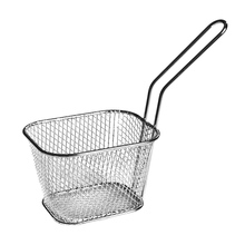 10.5*8.5*6.5cm Mini Potato Chips Frying Basket Strainer Stainless Steel French Fries Chips Frying Tools Kitchen Gadget