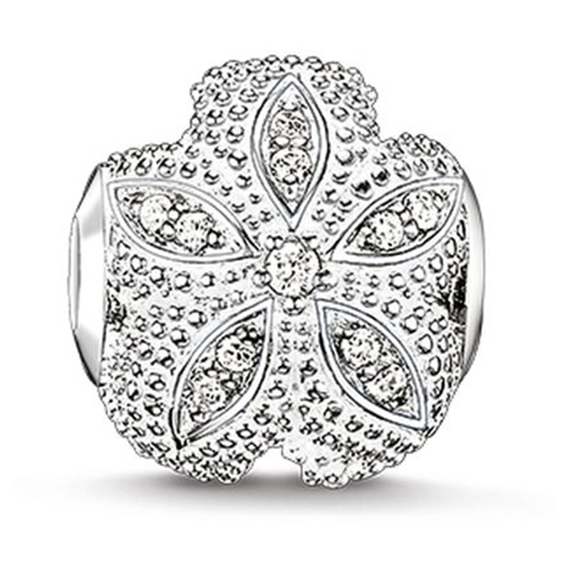 Jewellery 925 Sterling Silver Zirconia Starfish Bead, Most Fashion Karma Beads for Jewelry Making Fit Bracelets for Women Men