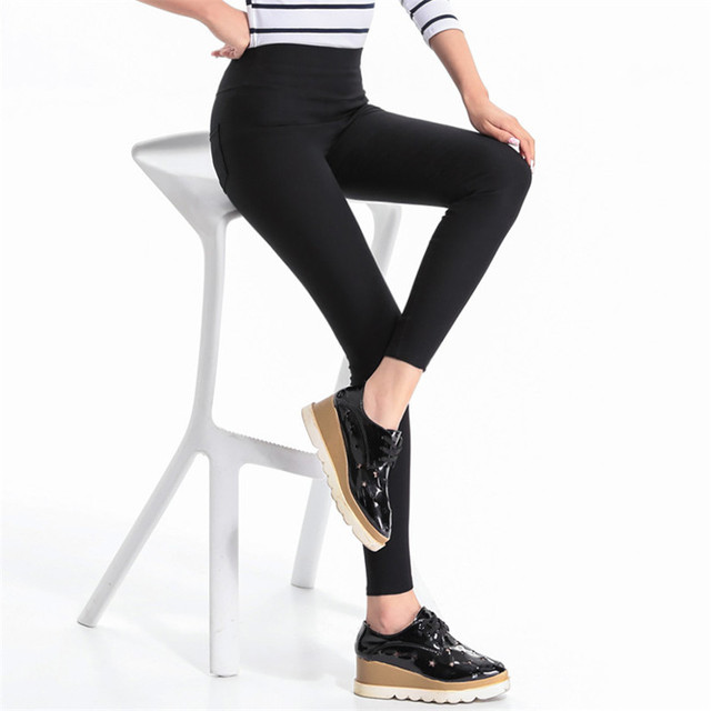 Summer Pencil Pant Ropa Mujer High Waist Female Black Thin Ladies Pants Fashion Womens Elastic White Plus Size Pantalones K132