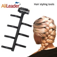 Brown French Braid Tool Weave Hair Braider Portable Hair Braid Accessories DIY Twister Hair For Women Plastic Hairstyle Tools