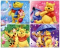 1 picture 40 pieces The animated cartoon cute bear tiger pig puzzle paper children kids toys gifts( 21*28cm)