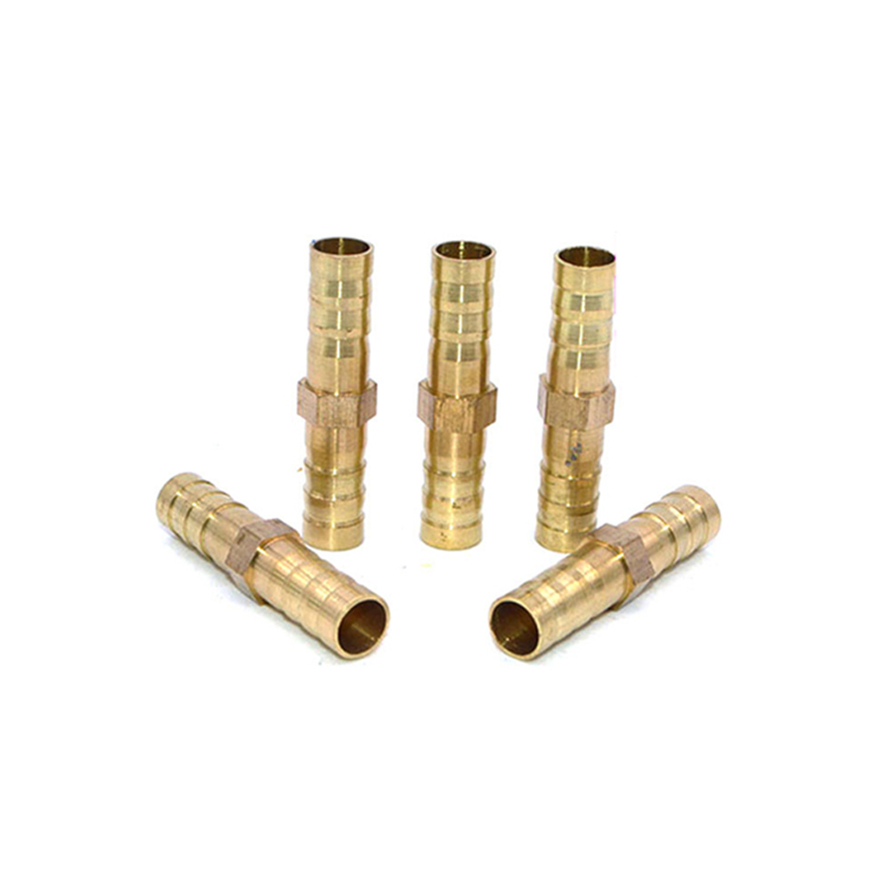 Brass Straight Hose Pipe Fitting Equal Barb 4mm 6mm  Gas Copper Barbed Coupler Connector Adapter Copper Pipe  Quick Connect