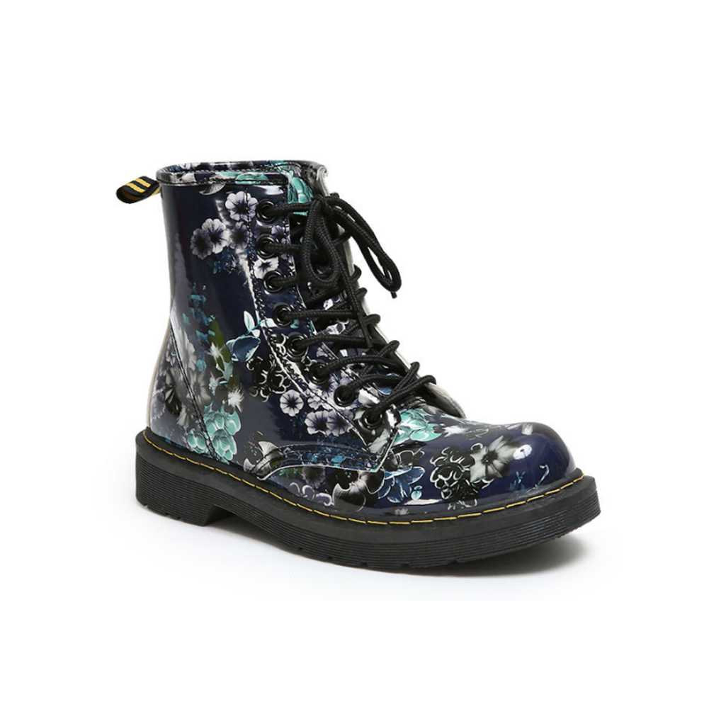 Fashion Winter Women Boots Floral Printed Martin Boots Round Toe Soft Sole Ankle Boots Lace up Platform Rubber Shoes Woman festina часы festina 6754 a коллекция automatic