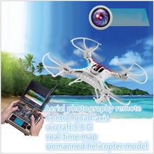 5.8g fpv rc DFD F183D 5.8 GHz drone RC Quadcopter 6 Axis Gyro 4CH 5.8G Real-time FPV dengan Kamera 2.0MP HD LCD Display hadiah terbaik
