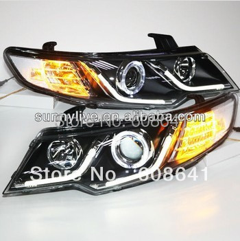 For KIA Forte Cerato LED Angel Eyes Headlight 2009 13 year LDV2 Type