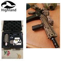 Hunting 3X Magnifier with Switch to Side Quick Detachable QD Mount For 20mm Rail Mounts+ 558 Holographic Red Green Dot Sight