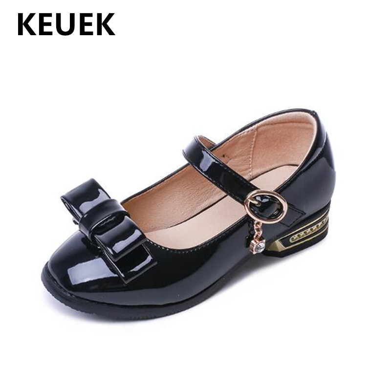 New Girls Shoes Princess Patent Leather High-heeled Children Black Bow Performance Student Dress Shoes Baby Kids Shoes 02New Girls Shoes Princess Patent Leather High-heeled Children Black Bow Performance Student Dress Shoes Baby Kids Shoes 02