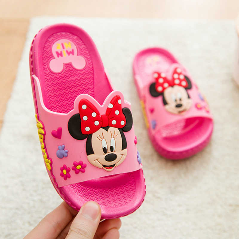 2019 Children's Shoes Baby Girls Boys Slippers Summer Cartoon Mickey Indoor Anti-skid Boys and Girls Baby Cool Minnie Slippers