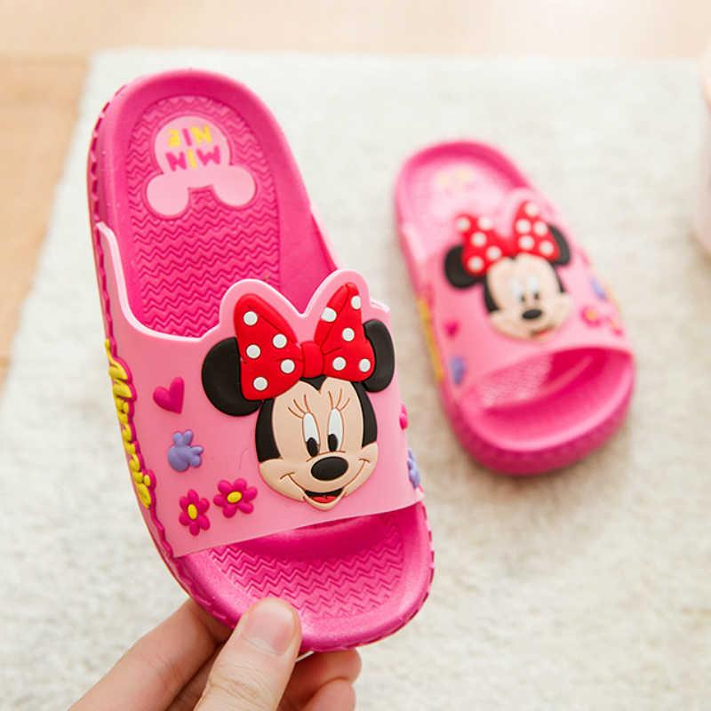 2019 รองเท้าเด็กรองเท้าเด็กทารกรองเท้าแตะรองเท้าแตะฤดูร้อนการ์ตูนMickey Anti-Skid Boysเด็กCool minnieรองเท้าแตะ