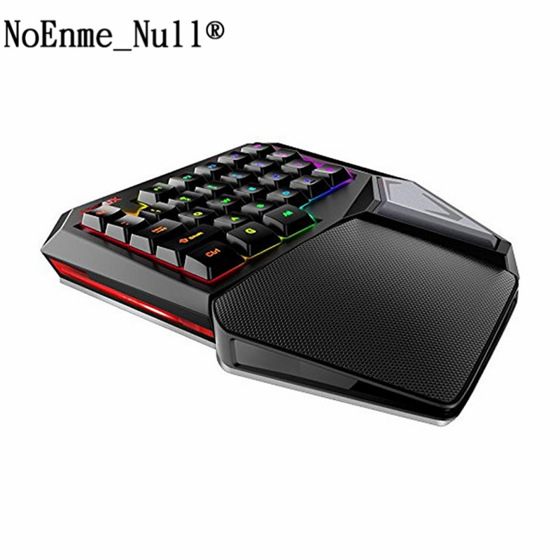 Delux T9 Plus 29 Keys Programmable Mechanical One/Single Hand USB Wired LOL DOTA 2 Esport Gaming Keyboard RGB LED Backlit light dare u wcg armor soldier 6400dpi 7 programmable buttons metab usb wired mechanical gaming mouse