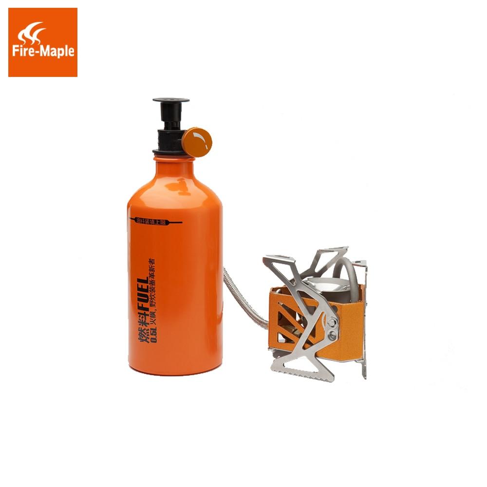 Feu érable Split huile essence combustible poêle poids léger extérieur barbecue pique-nique Camping poêle brûleur avec 0.5L bouteille de carburant 3275 W