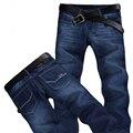2016 Homens Quentes das calças de Brim Retas Magros Estiramento Marca Jeans Rasgado Para Homens calças de Brim Baratas MP335