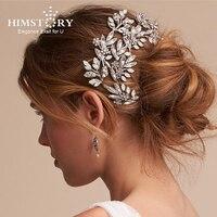 Himstory Opal Rhinestone Wedding Hair Accessory Bridal Hair Accessories Jewellery Romantic Stone Flower Fairy Hairwear Headpiece
