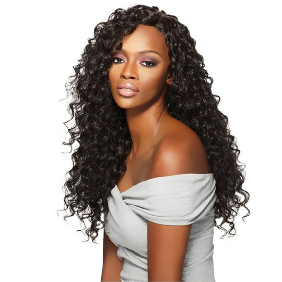 Deep Wave Lace Front Wigs Pre-Plucked Natural HairLine 130% Density Brazilian Human Remy ...