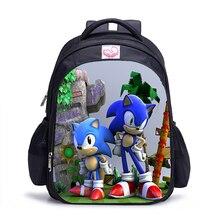 16 дюймов Sonic Boom Hedgehogs детские школьные сумки ортопедический рюкзак детский школьный рюкзак для мальчиков и девочек Mochila Infantil сумки с рисунком подарок