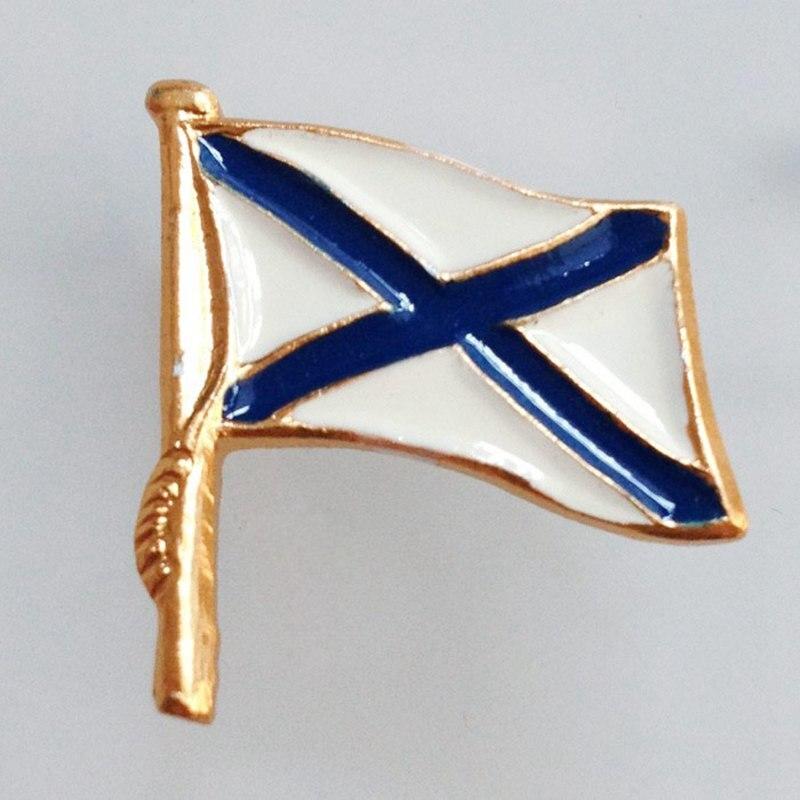 Rusia Navy soldados Badges militar Honor Pins mar servicio Bandera de recuerdo Metal broche para los Fans del ejército colección gran regalo