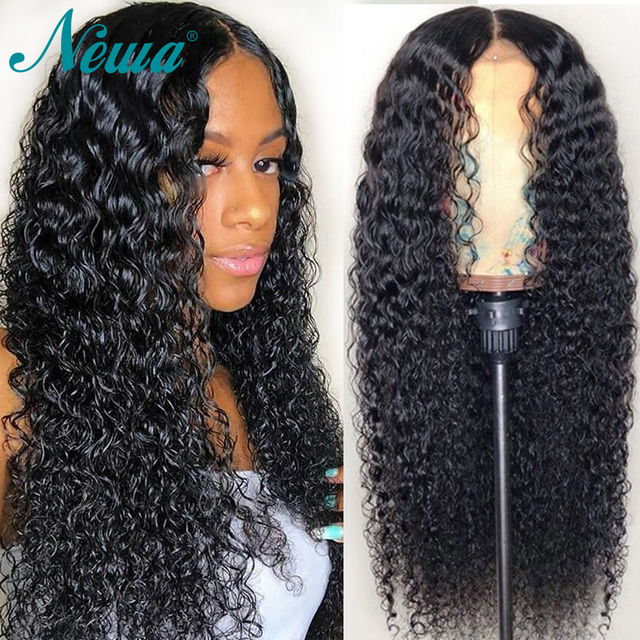Pelucas delanteras de encaje de NYUWA onda de agua Remy pelo pelucas de cabello humano frontal con pelo de bebé brasileño Pre-desplumado pelucas para mujeres negras