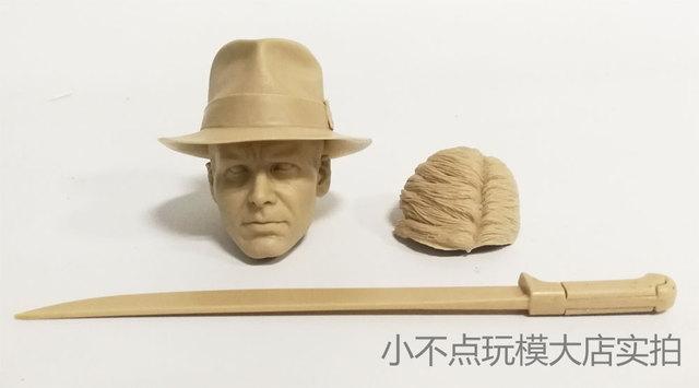 ce10d27d95a 1/6 scale Indiana Jones Raiders of the Lost Ark head sculpt 4 a lot  unpainted