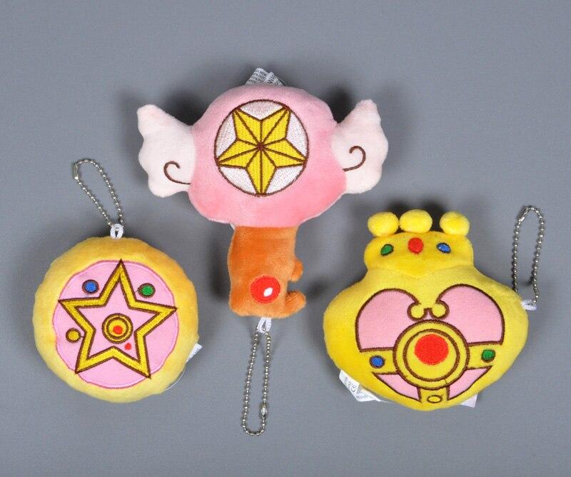 Аниме Сейлор Мун Плюшевые игрушки мультфильм Cardcaptor Sakura плюшевые брелок сердце ко ...