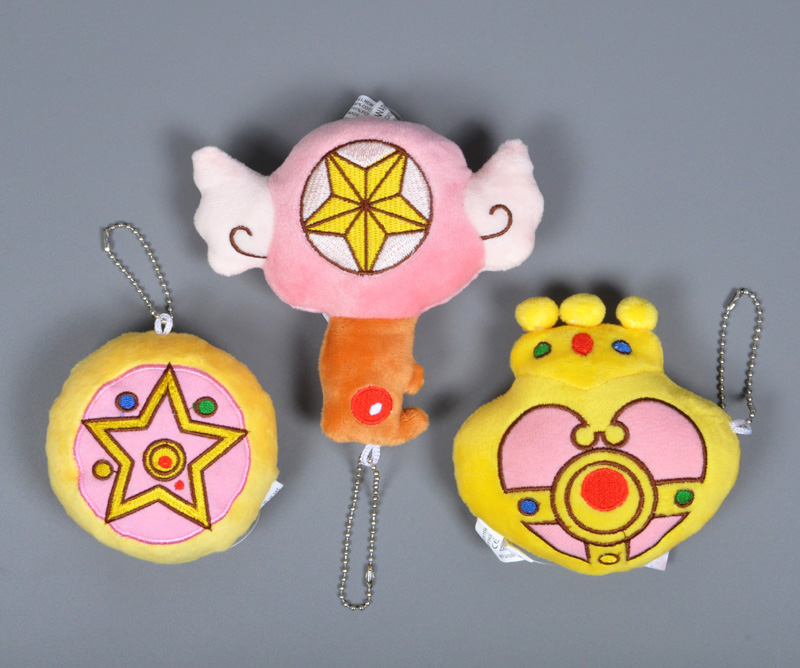 Anime Sailor Moon plush toy Cartoon Cardcaptor Sakura Plush Keychain Heart Crown pattern ...