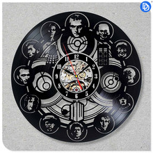 Home Decor Doctor Who Best 3D Art Wall Clock 12 inch Vinyl Record TARDIS Wall Sticker
