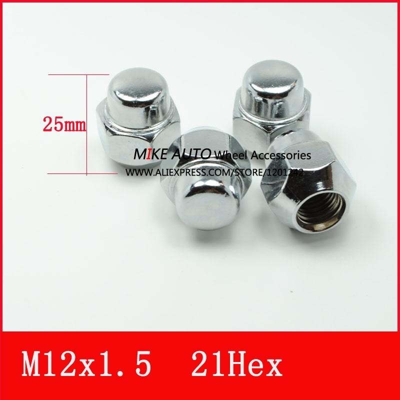 16 x Ford M12 X 1.5 19 mm Hex Ouvert Alliage//Acier écrous de roue