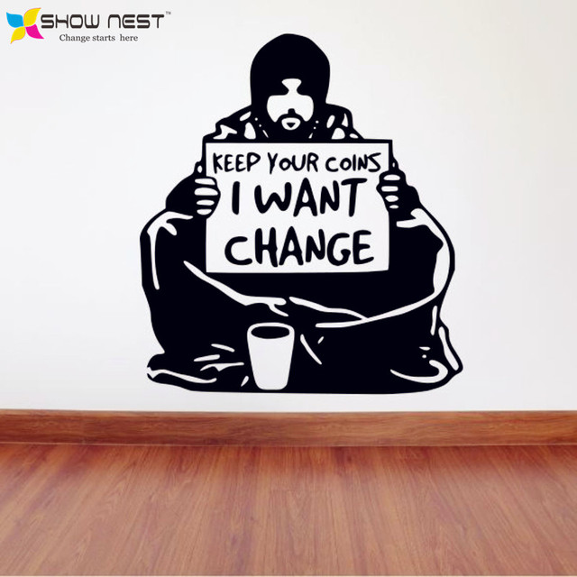 Banksy wall decal vinyl sticker street art graffiti wallpaper banksy quotes wall mural i