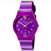 WILLIS Children Cartoon Watches Bright Color Stylish Analog Watch Jelly Watch