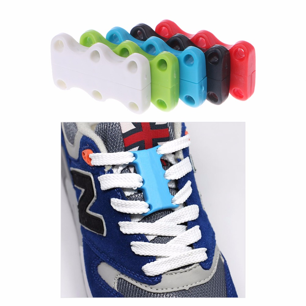1 Pair Novelty Magnetic Casual Sneaker Shoe Buckles Closure No-Tie Shoelace New 8 fashion color Worldwide sale ...