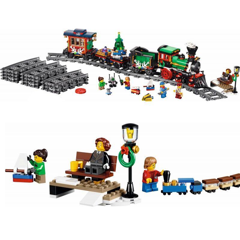 Lepin 36001 Creative Winter Holiday Train Children Educational Building Blocks Bricks Toys Compatible With lego 10254 770 Pcs dhl lepin 36001 winter holiday train 36011 winter village train educational building blocks toys gifts clone with 10254 10259
