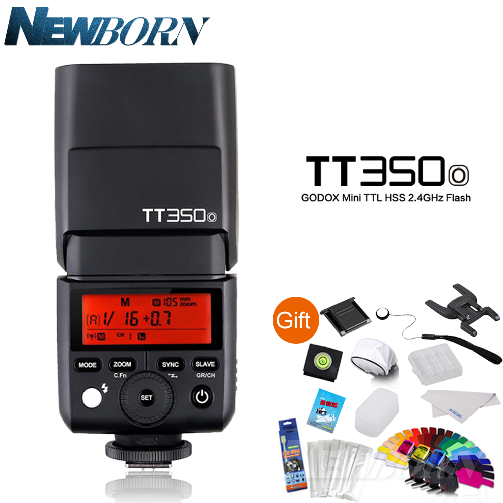 Godox Flash Speedlite TT350O Camera Flash TTL HSS GN36 for Olympus/Panasonic Mirrorless DSLR Camera E-M10II/E-M5II/E-M1/E-PL8 in stock godox mini speedlite tt350 tt350o camera flash ttl hss gn36 for olympus panasonic mirrorless dslr camera