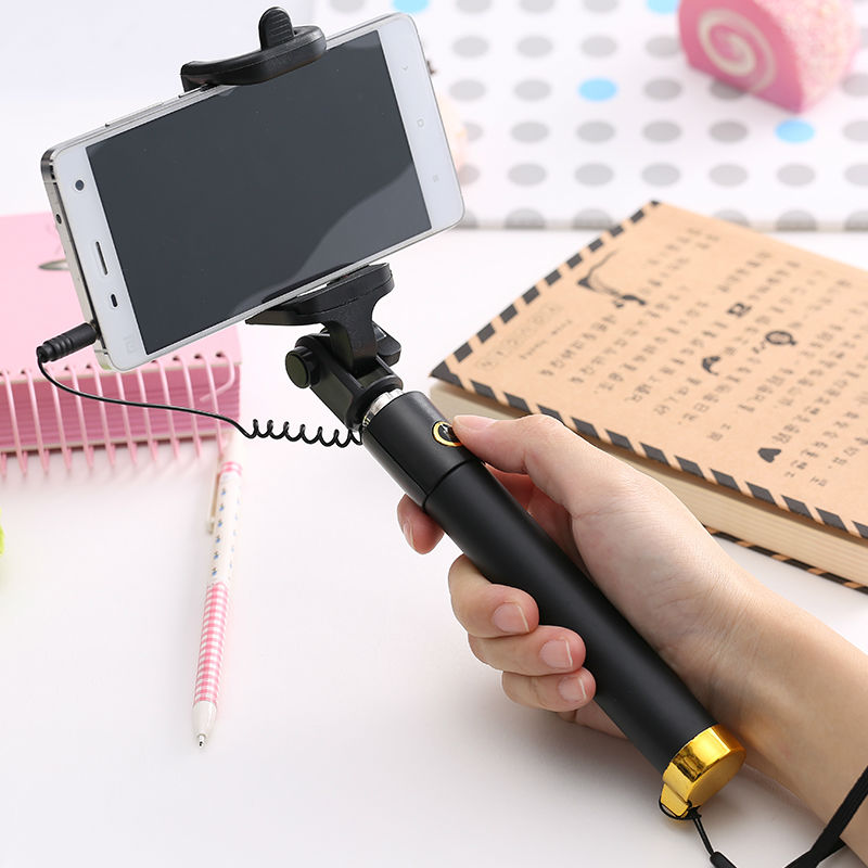 universal luxury remote selfie stick monopod for iphone 6 6s plus extendable wired para selfie. Black Bedroom Furniture Sets. Home Design Ideas