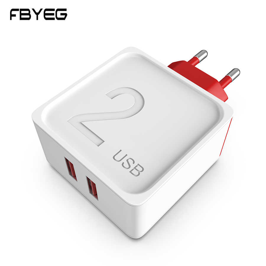 Fbyeg USB Charger Plug untuk iPhone X 8 7 Ipad Cepat Dinding Charger Adaptor Uni Eropa untuk Samsung S9 Xiao Mi mi 8 Ponsel Charger