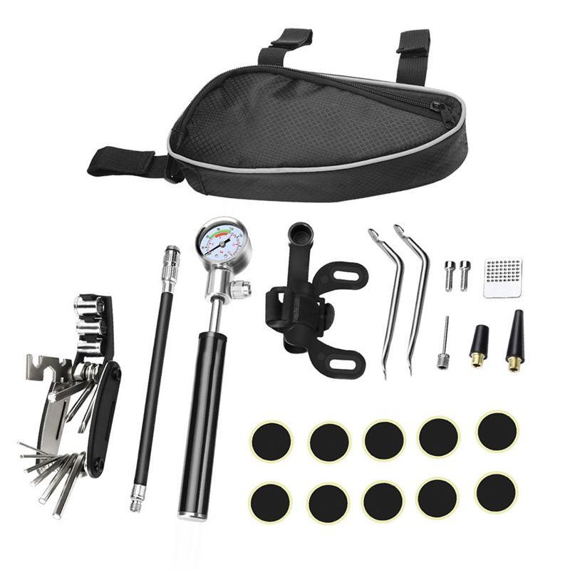 1 Set Of Tire Repair Parts Multi Functional Lightweight Convenient Portable Repair Tool Kit Repair Tool Set For Repair Bicycle